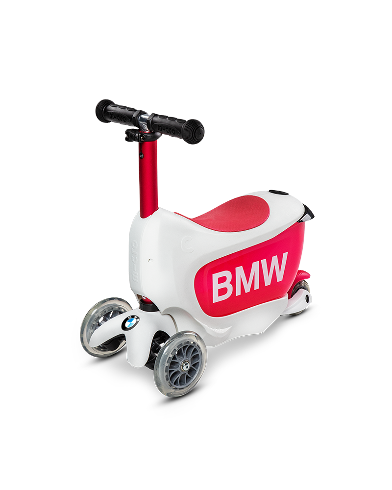 Bmw Kids Scooter White Raspberry Red Micro Mobility Com